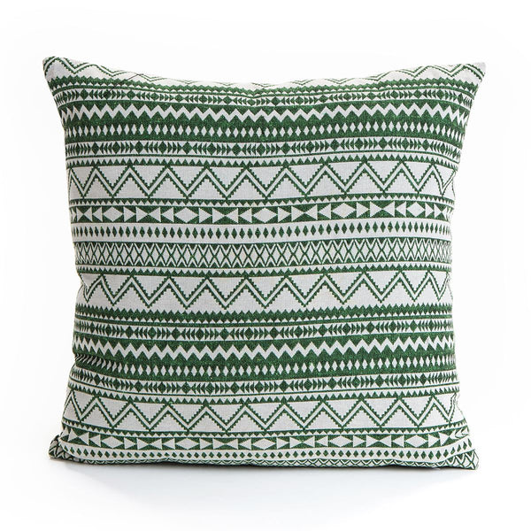 Green Aztec Cushion