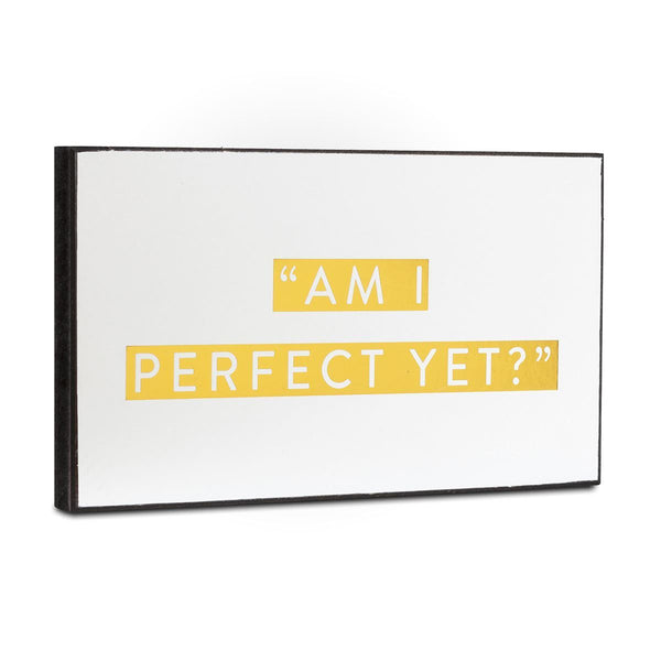 Wooden Plaque-  Am I Perfect Yet?