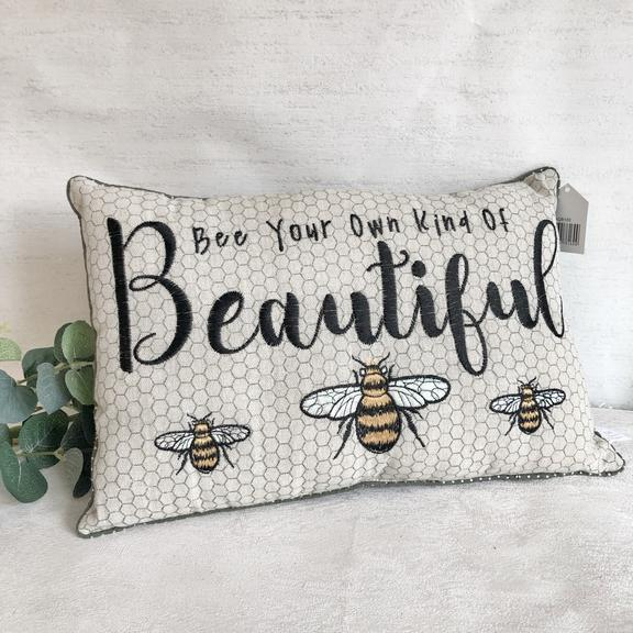 Bee your own kind of beautiful cushion