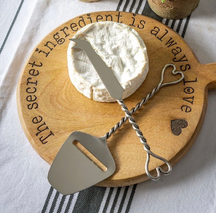 Heart set of 2  Cheese Knifes
