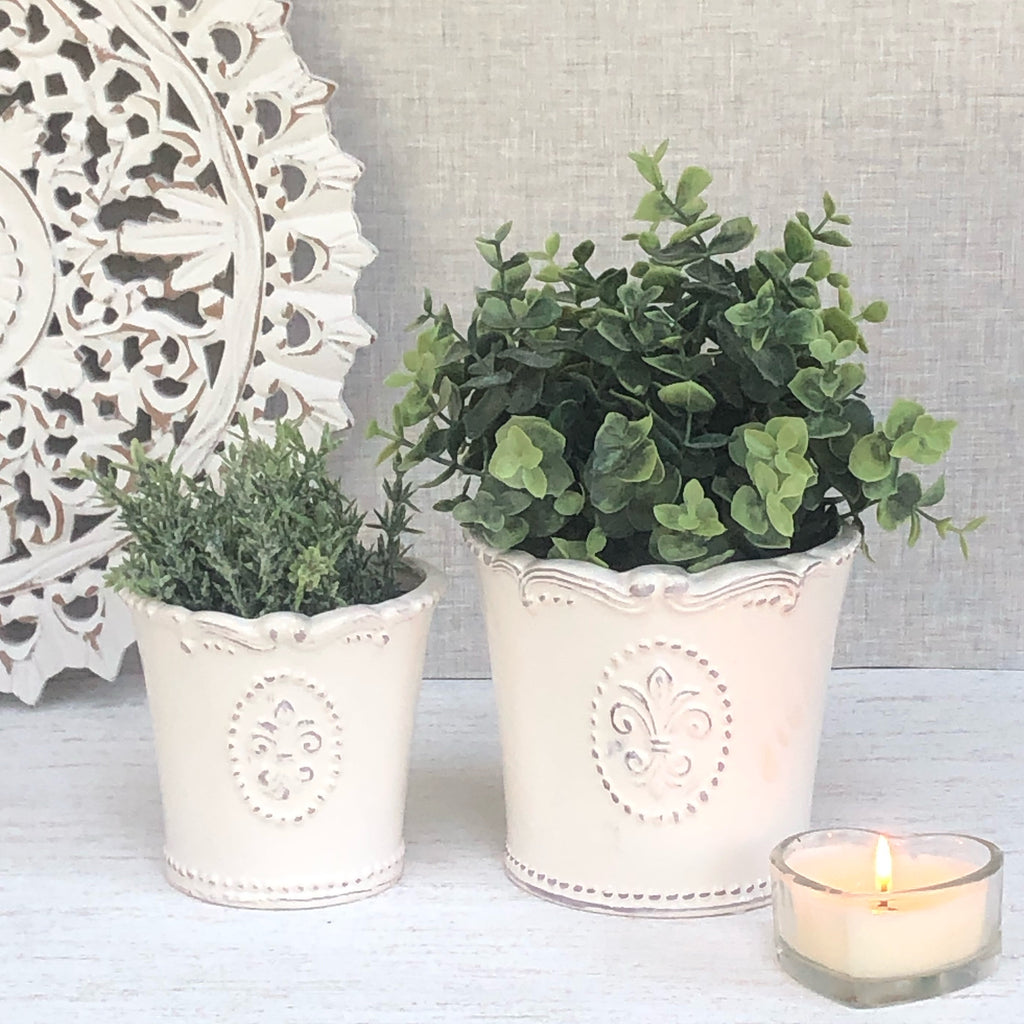 White Planter Pot