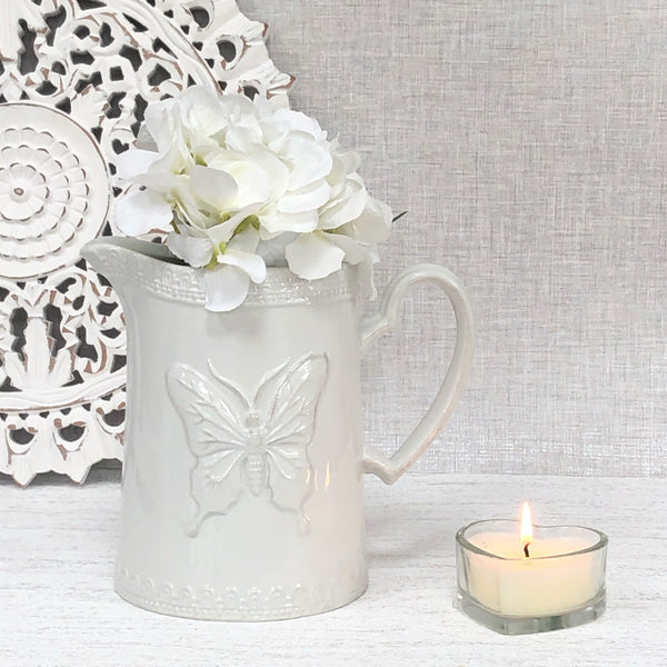 White Butterfly Jug