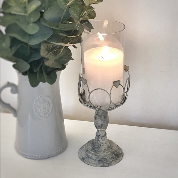 Rustic Heart Candle Holder