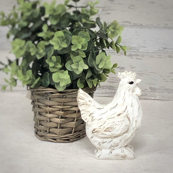 Wooden chicken ornament hen