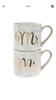 Mr & Mrs Marble stacking Mugs
