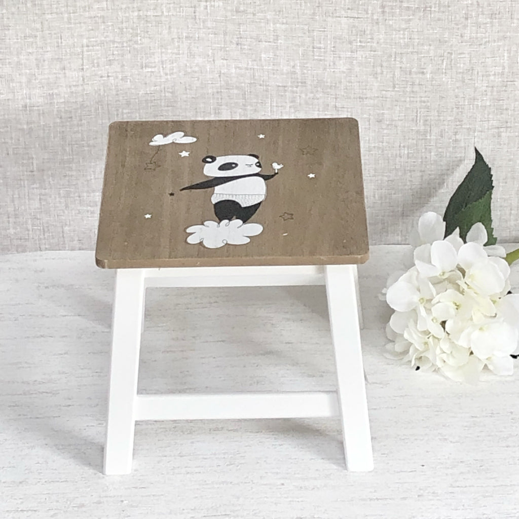 Panda stool Nursery Kids wooden