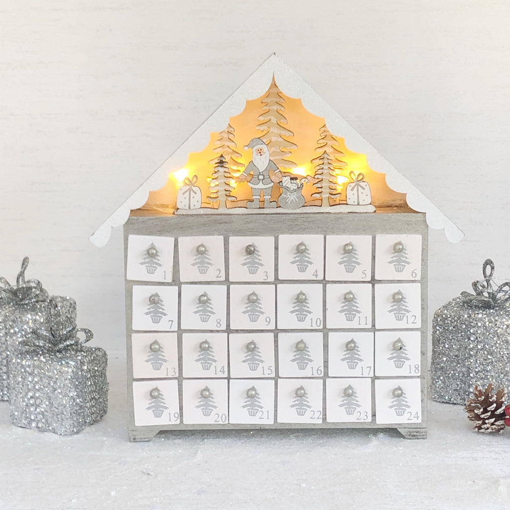 Light up decorative advent calendar
