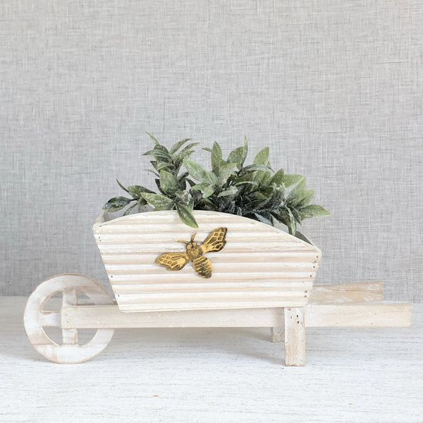 Bee Wheelbarrow Planter