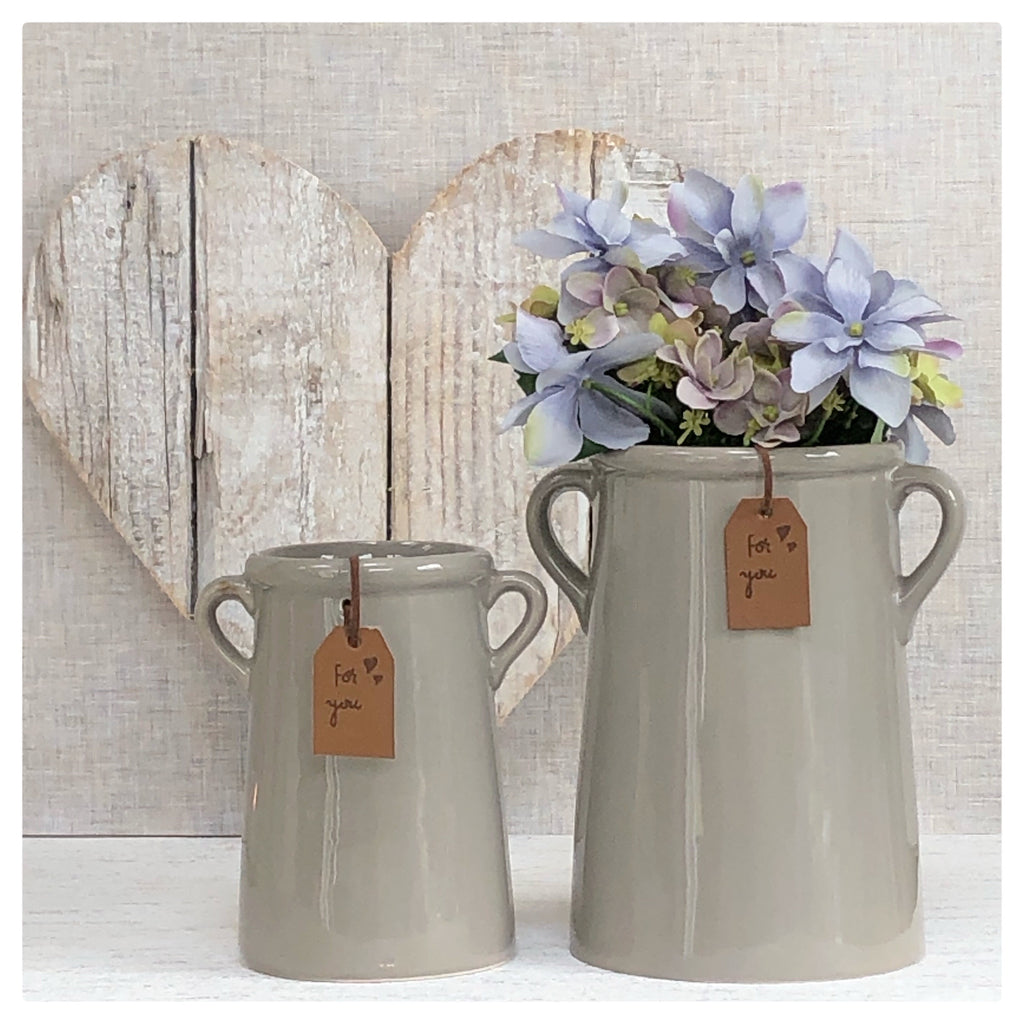 Grey 'For You' Vase