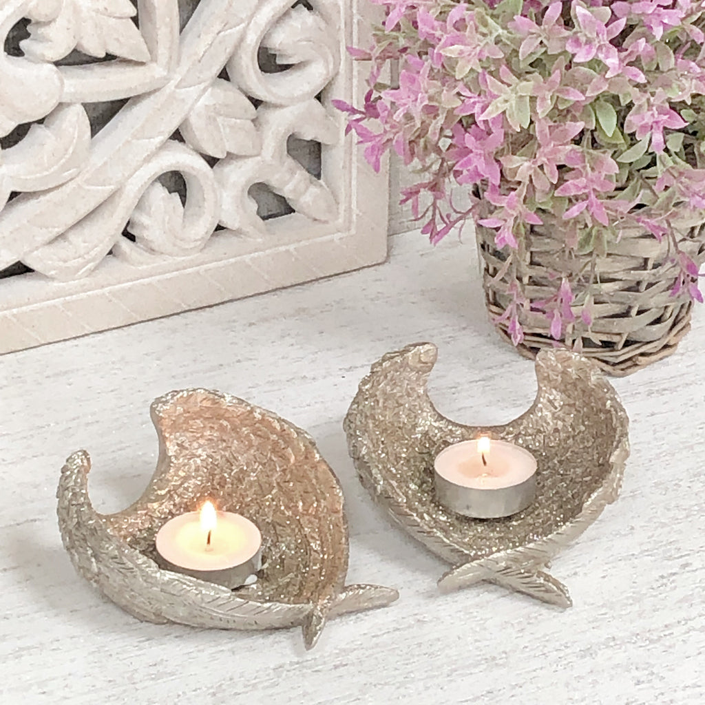 Angel Wing T-light candle holder