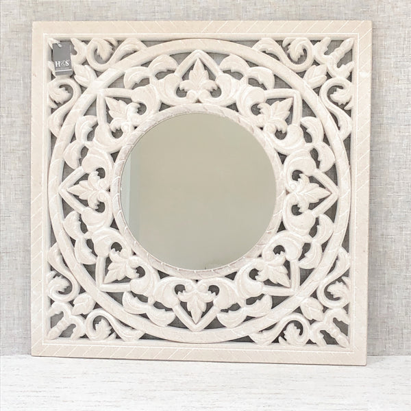 Ornate Carved Mirror Square Mirror
