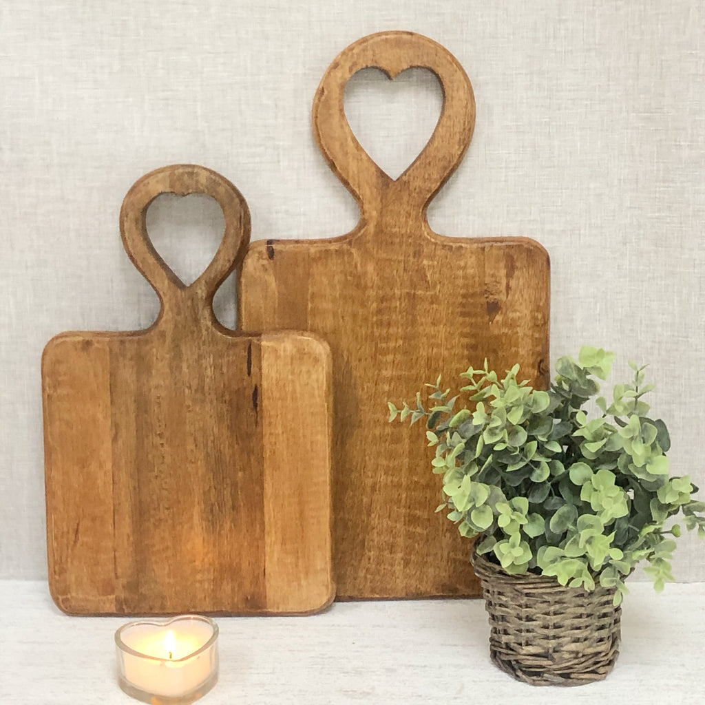 Wooden Heart Chopping Boards