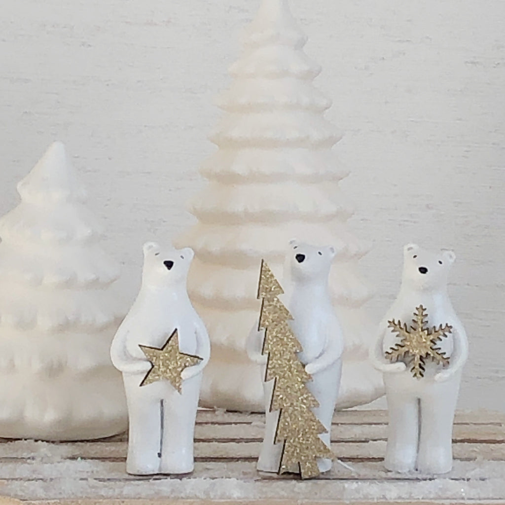 Set of 3 Polar Bears