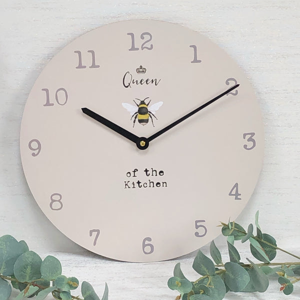 Queen Bee Kitchen Clock 🐝