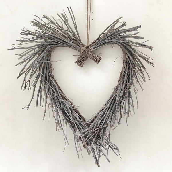 Heart twig wreath