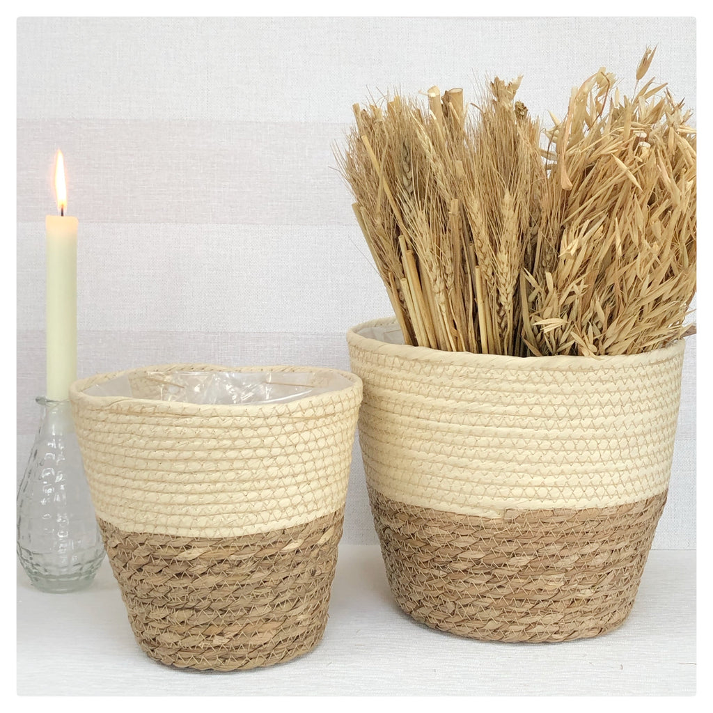 Seagrass Basket Cream & Nautral