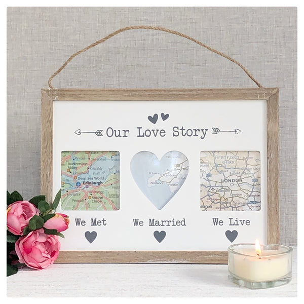 personalised map plaque