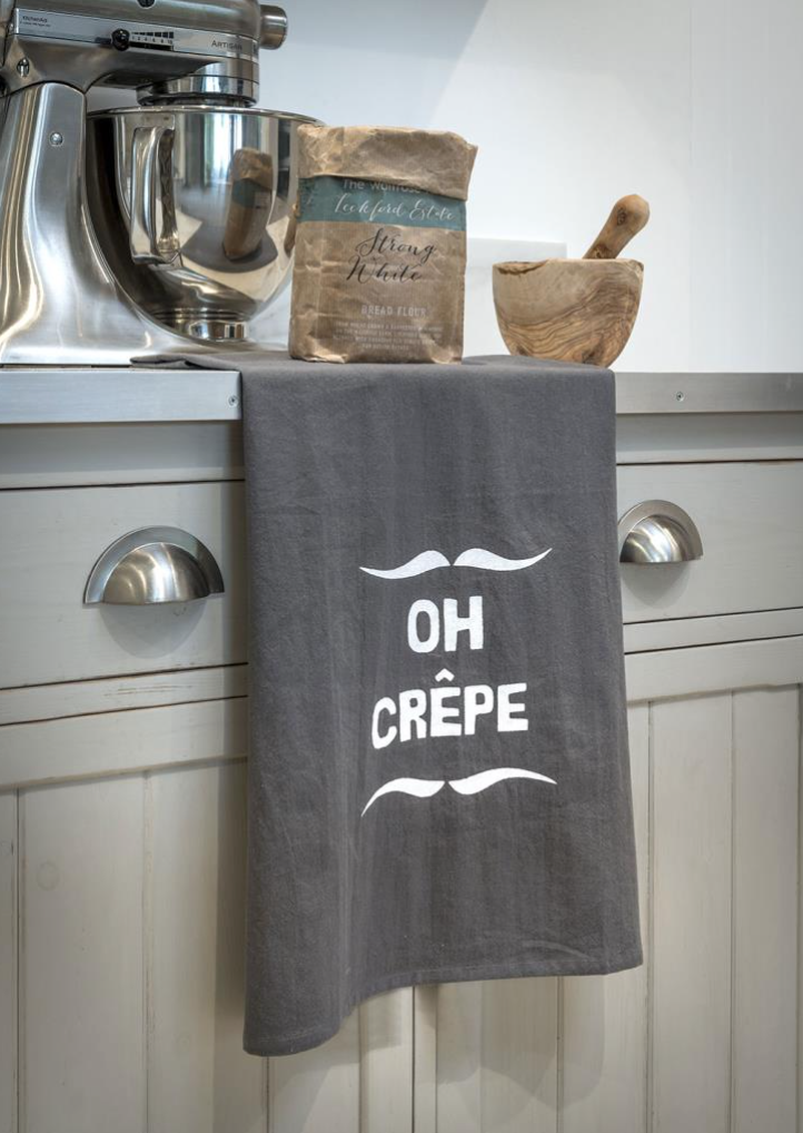 Tea Towel Oh Crepe grey kitchen