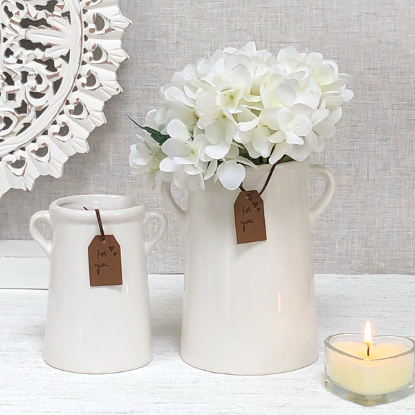White 'For You' Vase