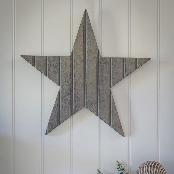 Large Grey Wall Star