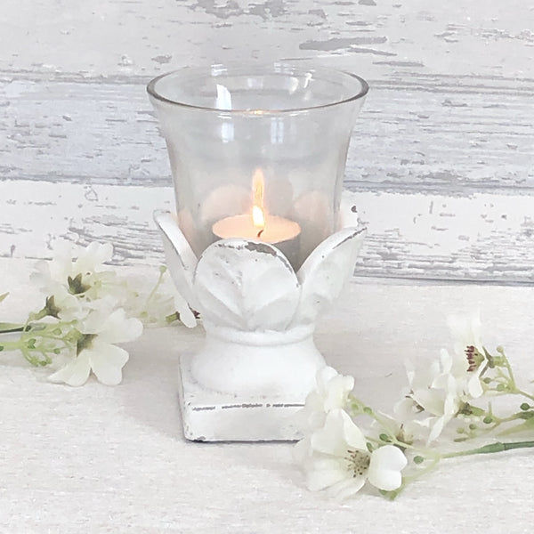 Small Hurricane Artichoke Candle Holder