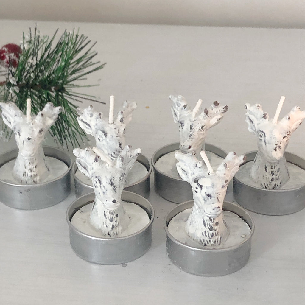 Set of 6 Stag Candles
