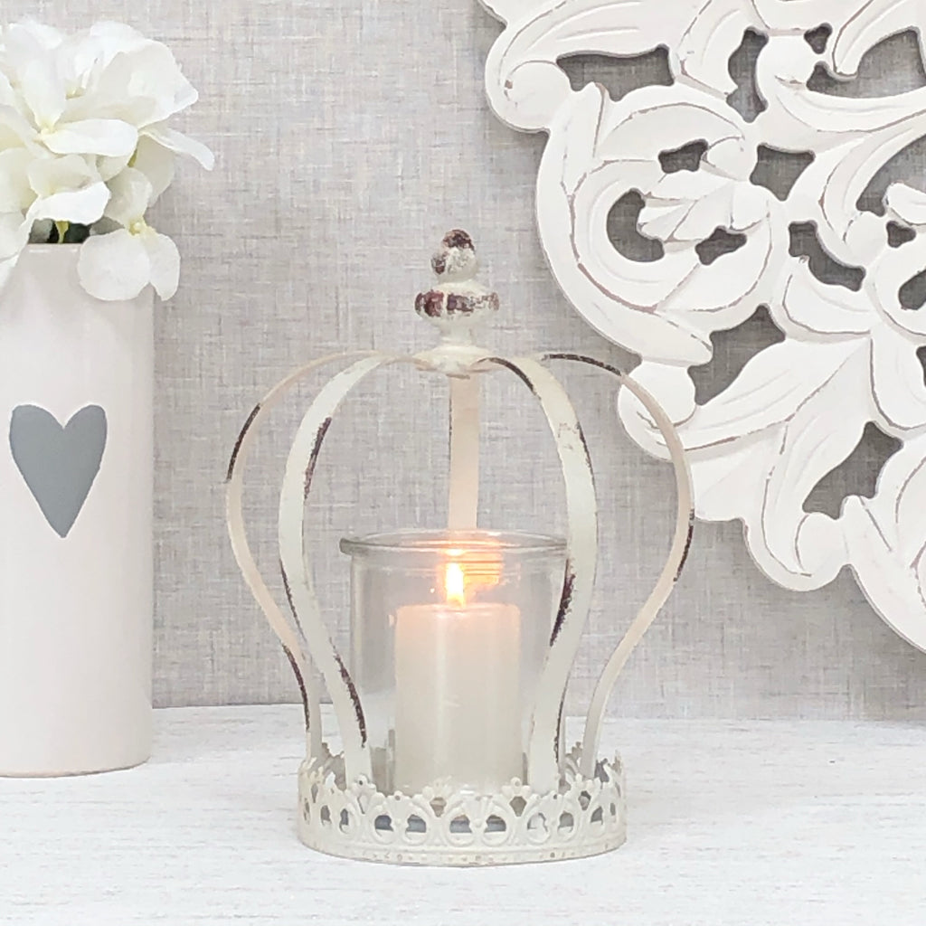 Crown Candle Holder Cream