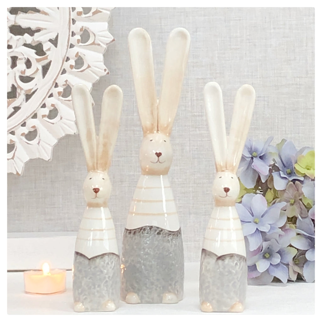 Tall Ceramic Bunny Rabbits