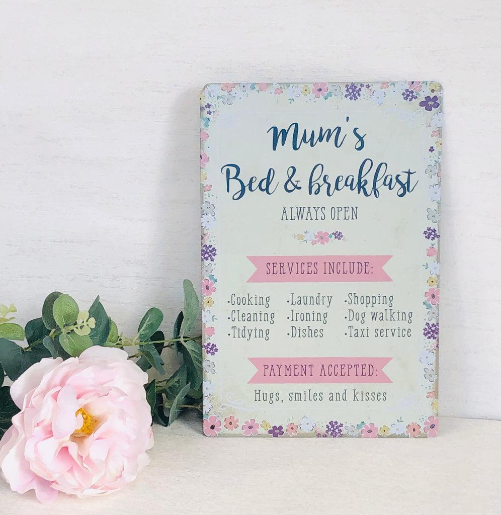 Mums Bed & Breakfast Wall Sign