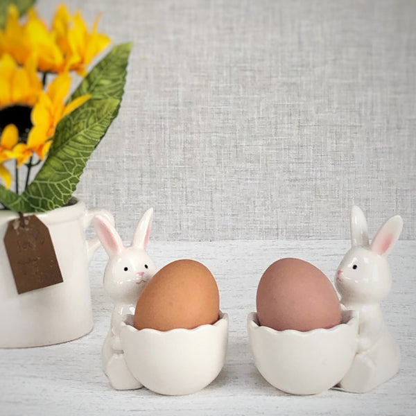 bunny egg cup ceramic easter