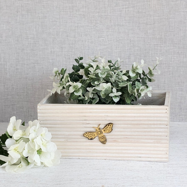Bee Wooden Planter
