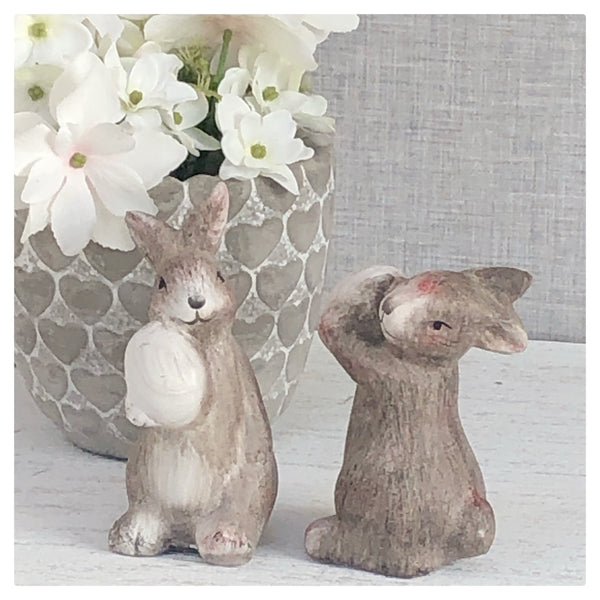 Set of 2 Bunnies  with eggs