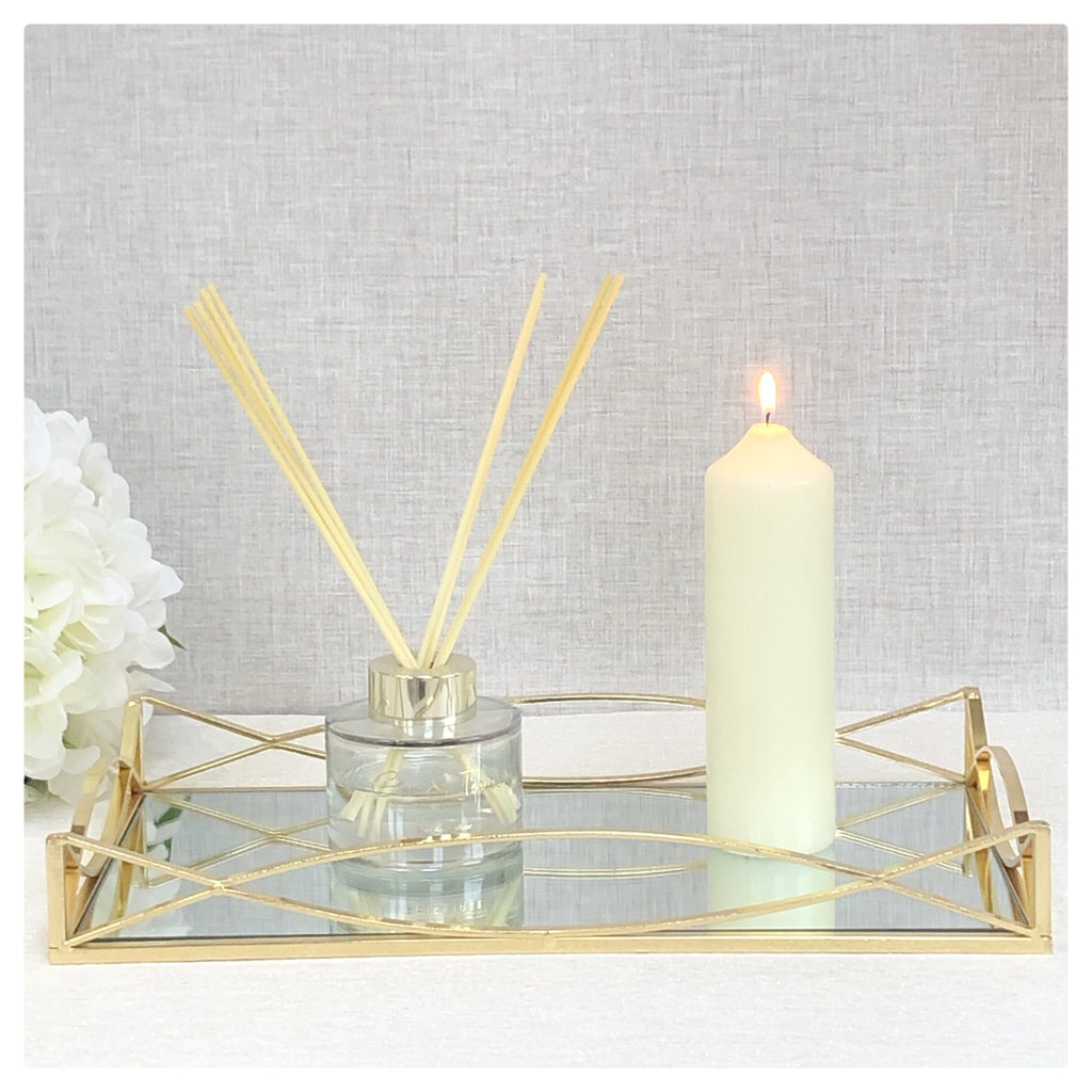 Mirror Candle Plate Tray
