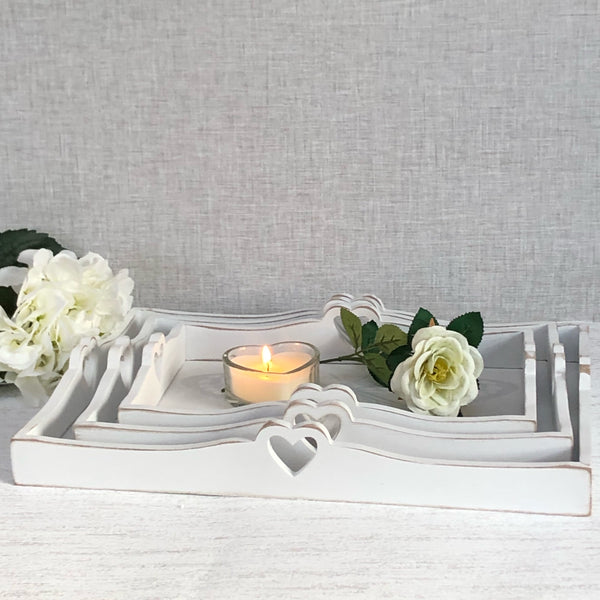 White butterfly trays