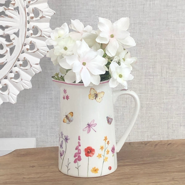 Butterfly Floral Jug