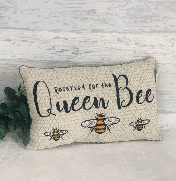 reserved for the Queen Bee cushion