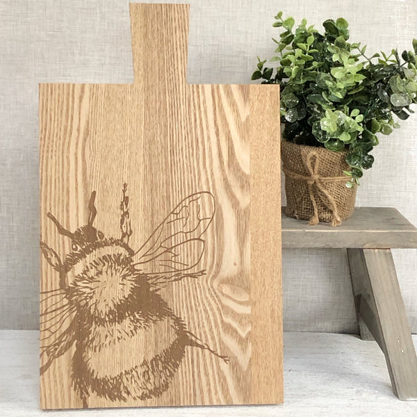 Wooden Bee Serving Board