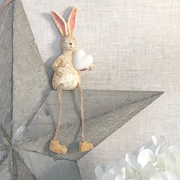 bunny ornament shelf sitting