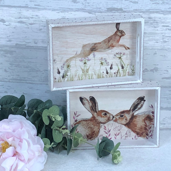 Hare decorative tray