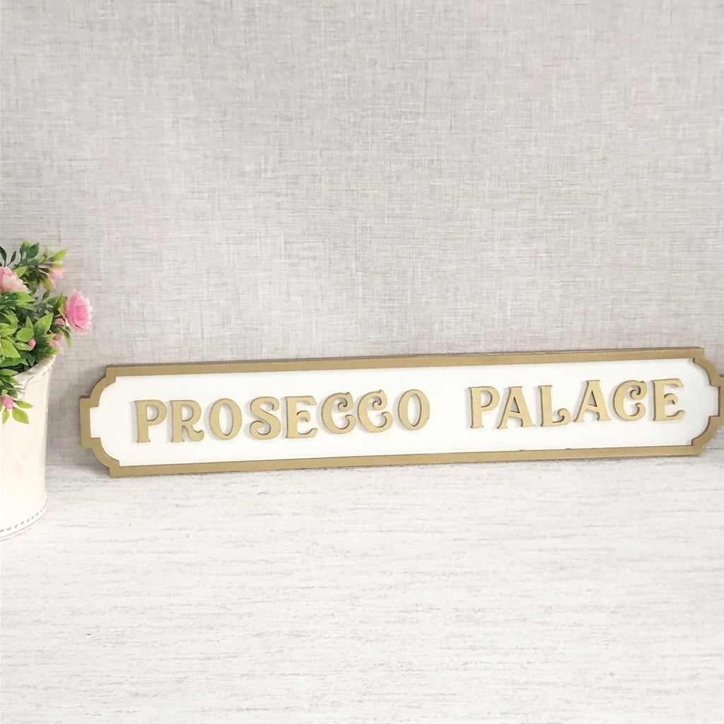 Prosecco Palace sign