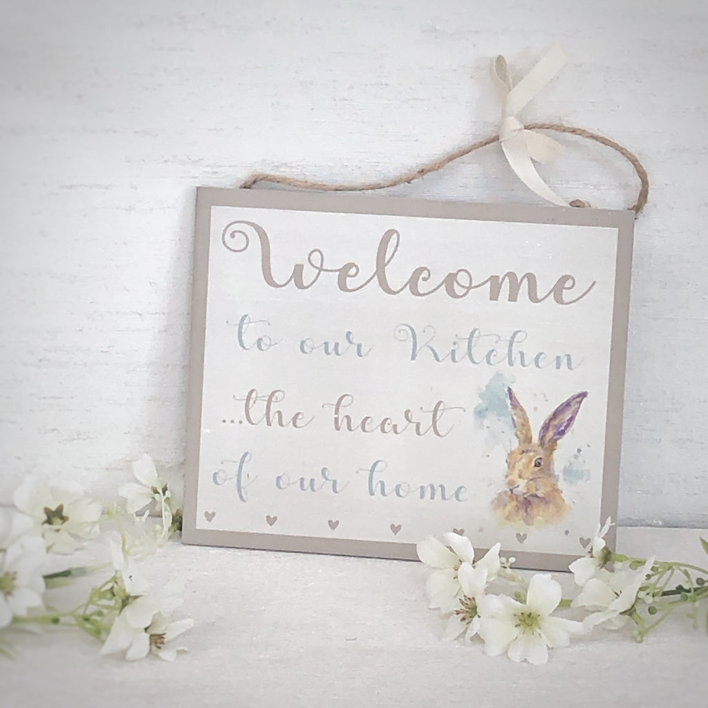 Country hare sign for the kitchen