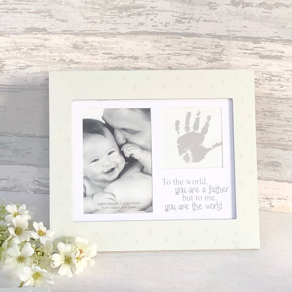 baby hand print frame