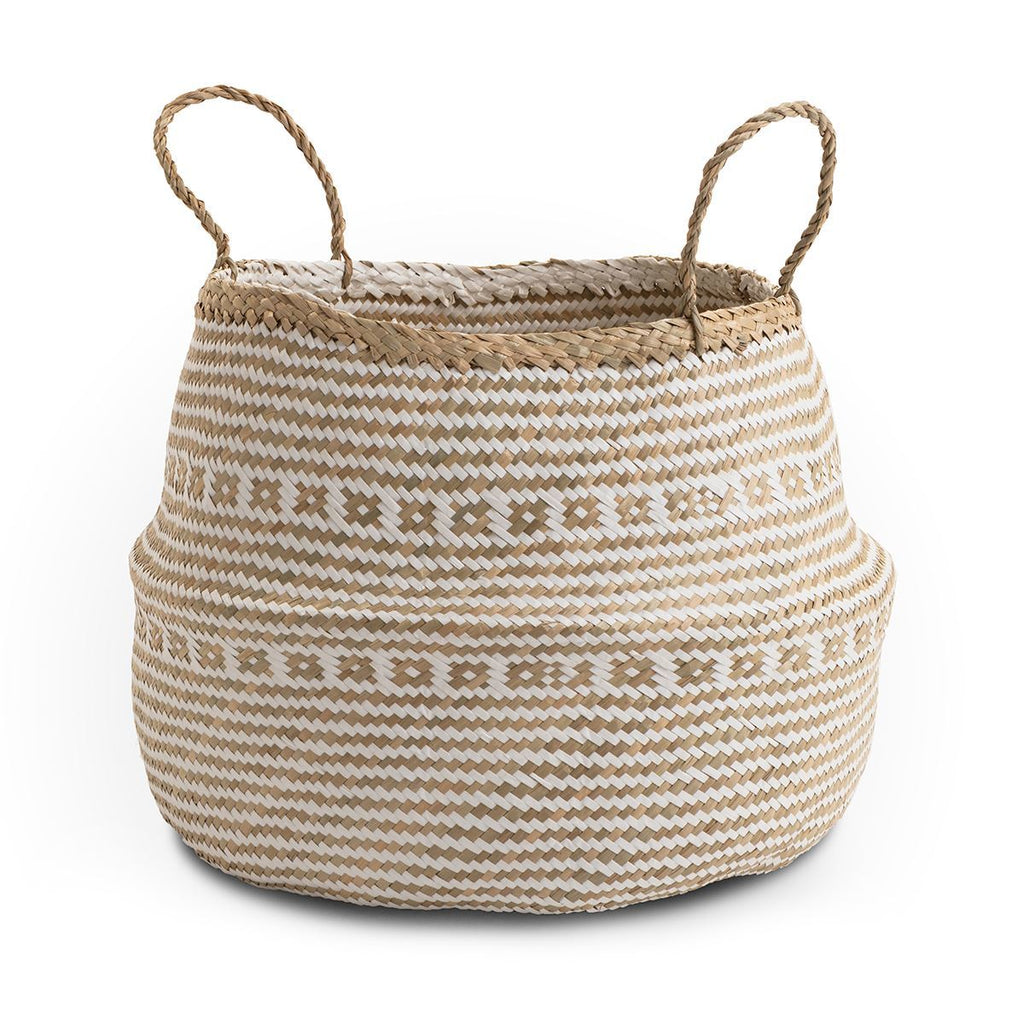 Seagrass Belly Basket Aztec