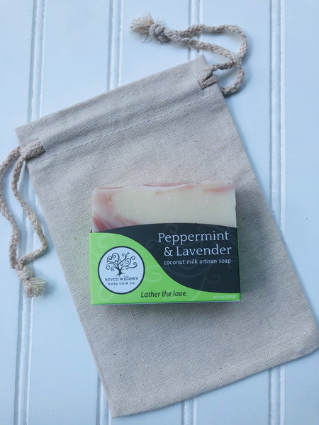 Peppermint and Lavender coconut milk  soap