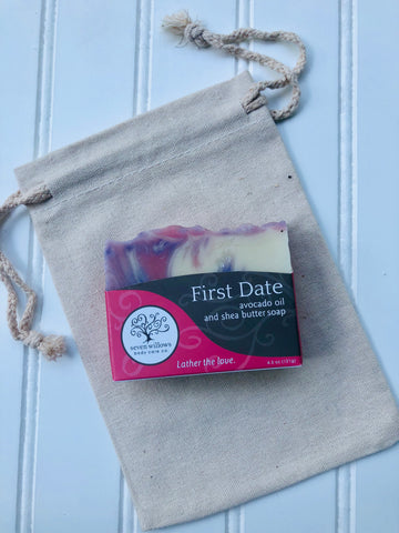 First Date avocado oil and shea butter soap