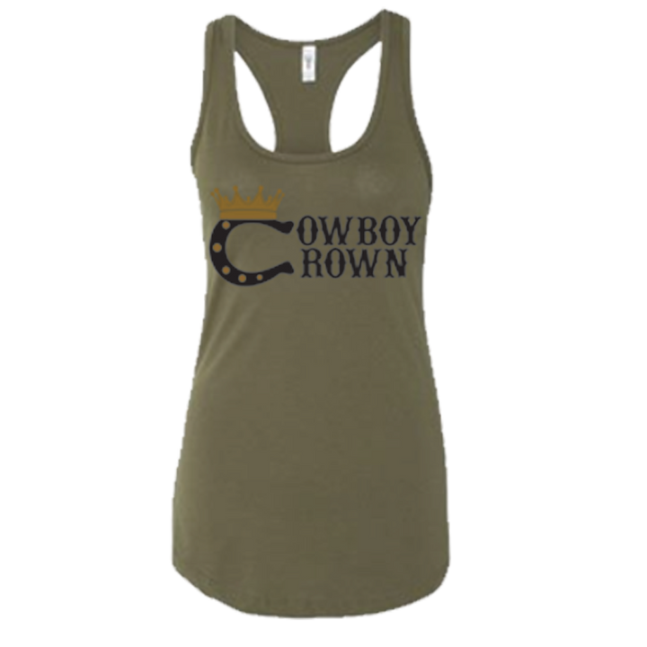 Versatile Women's Military Green Tank Top