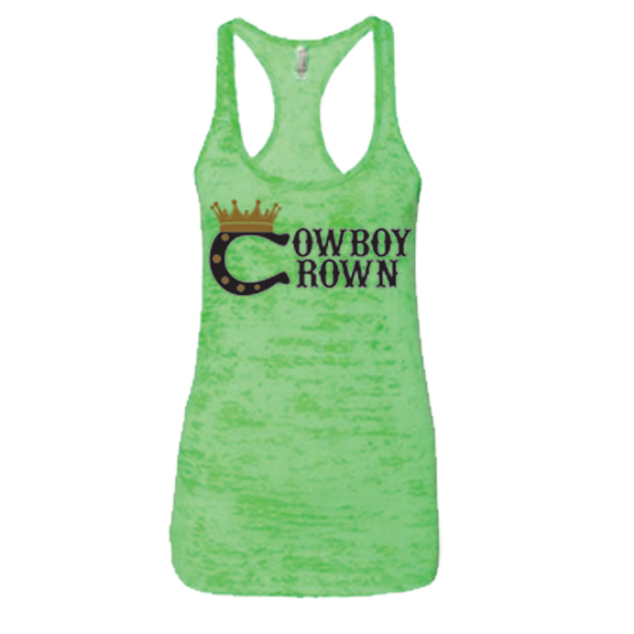 Women's Green Burnout Tank Top