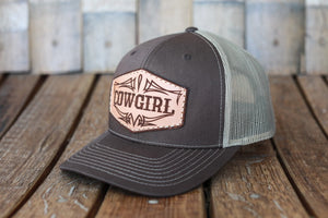Brown Premium Cowgirl Hat with Embossed Leather Patch
