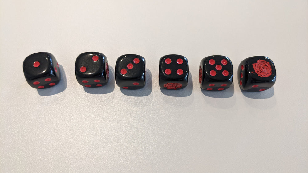 Red Rose Dice Pack