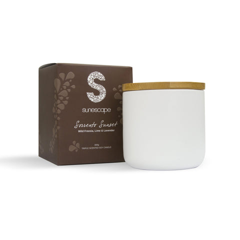 Triple Scented Soy Candle - Sorrento Sunset